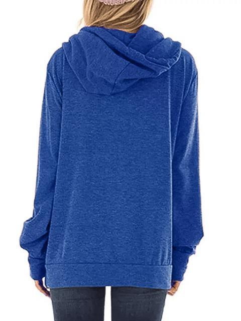 Faith Printed Drawstring Hooded Sweatshirt