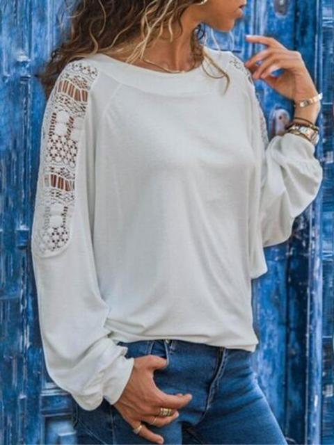 Long Sleeve Loose Blouse Casual Shirt