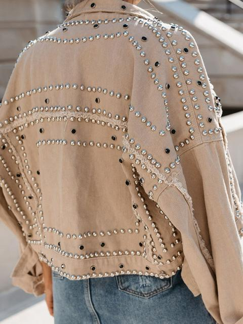 Long Sleeve Rivet Jacket Coat