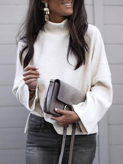Long Sleeve Solid Round Neck Sweater