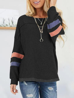 Outerwear Round Neck Regular Sweatshirt
