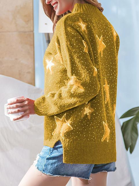Stars Knitting Jumper Sweater