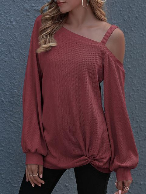 Strapless Casual Solid Sweatshirt