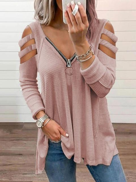 Strapless V-neck Letter Print Tops Blouse