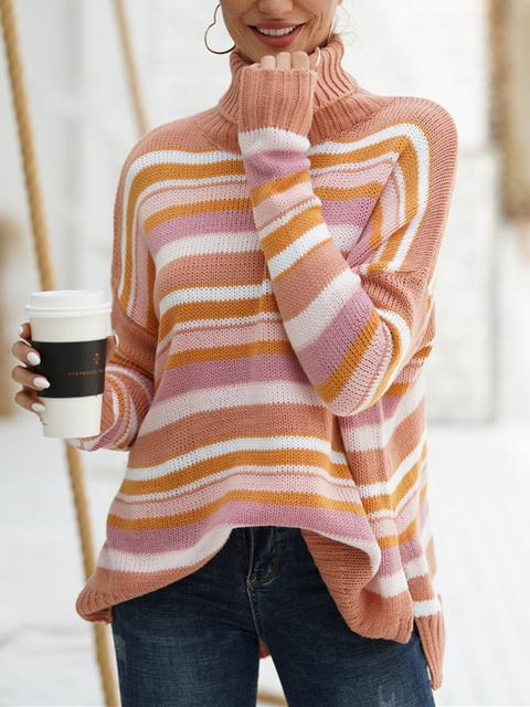 Striped Round Neck Loosse Sweater