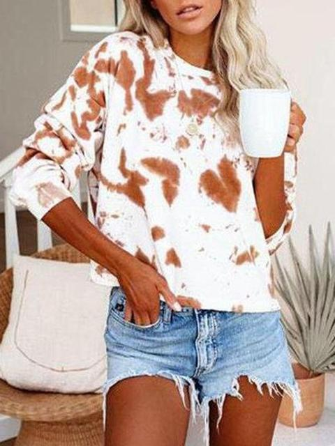Tie-dye Print Long Sleeve Sweatshirt