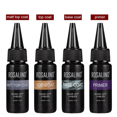 ROSALIND 30ml Primer, Top Coat, Base Coat, and Matt Top Coat