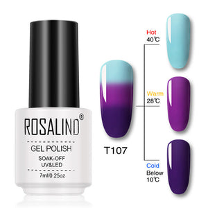 ROSALIND Gel Temperature Changing Color Gel Nail Polish