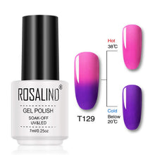 Load image into Gallery viewer, ROSALIND Gel Temperature Changing Color Gel Nail Polish
