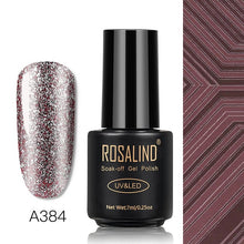 Load image into Gallery viewer, ROSALIND Glitter Platinum Gel Nail Polish