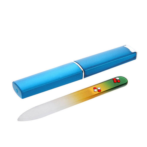 Durable Glass Nail File With Plastic Case