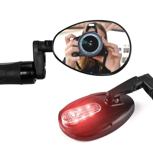 Bike Mirror With reflective light