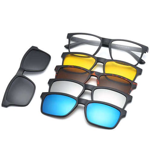 Men's Custom Prescription Sunglasses 5 Magnet Lenses