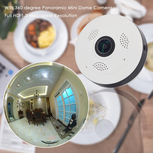 CTVMAN Panoramic 360 Degree Wifi Camera Security Dome Baby Monitor HD 960P For Home CCTV Wireless Video Indoor Mini Audio Webcam