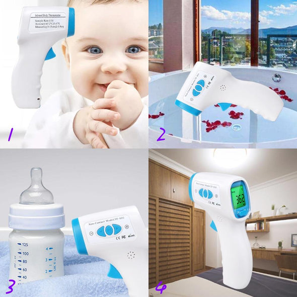 ERA-5 Digital Infrared Thermometer. Kids Forehead Ear Non-Contact  Fever Measurement Appliance.