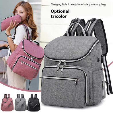 Waterproof Mummy Nappy Bags Fashion Maternity Diaper Bags Large Capacity Baby Care Nursing Bag Mother Multi-function Backpacks