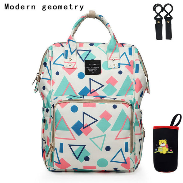 Fashion Mummy Maternity Nappy Bag Waterproof Diaper Bag Stroller Travel Backpack USB Large Capacity Nursing Bag for Baby Care