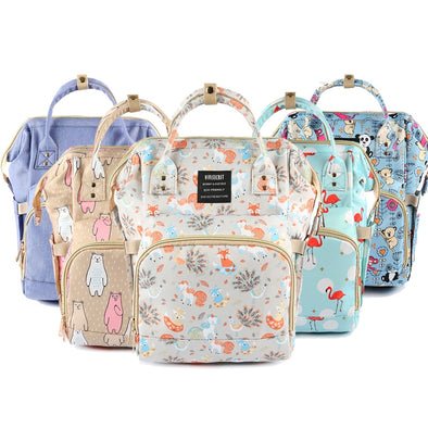 Diaper Bag Backpack For Moms Waterproof Large Capacity Stroller Diaper Organizer Unicorn Maternity Bags Nappy Changing Baby Bag