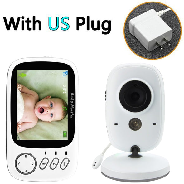 Wireless Video Color Baby Monitor with 3.2Inches LCD 2 Way Audio Talk Night Vision Surveillance Security Camera Babysitter