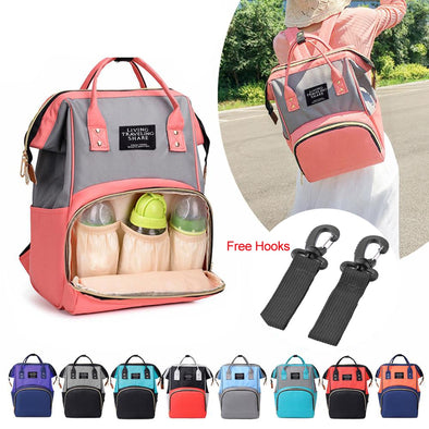 Diaper Baby Bag High Capacity Mummy Maternity Bag Multifunctional Nursing Bag Backpack Hooks Baby Care Stroller Accessories