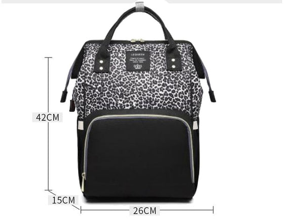 Diaper bag backpack Travel Leopard Men Mummy Baby Care nappies stroller Bag Large Capacity Waterproof Business baby bag for mom