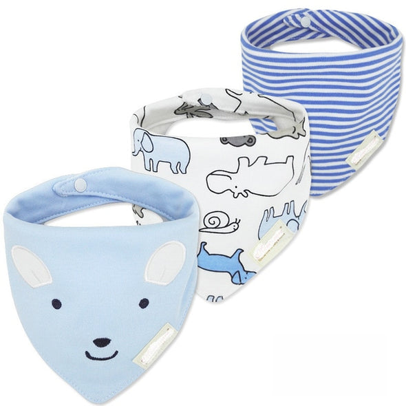 FREE GIFT FOR NEW YEAR 2020 - Bi3 Organic Cotton Baby Bib. Waterproof Bib . Great Cotton Bandana Bib for  Newborn Baby  & Toddler. 3pcs .