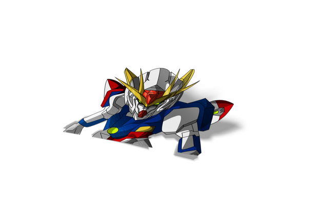 Chibi Gundam Wing Zero Sticker
