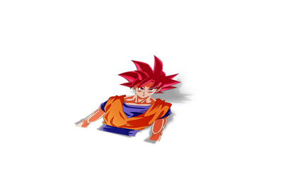 Goku SSG Sticker