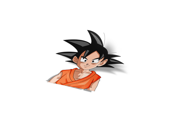Goku Chibi Sticker