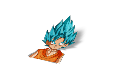 Goku SSB Chibi Sticker