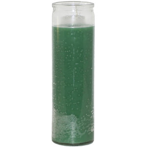 Unscented Glass  Prayer Candle