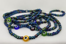 Load image into Gallery viewer, Evil Eye Charm Bracelet - Peacock