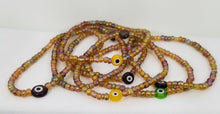 Load image into Gallery viewer, Evil Eye Charm Bracelet - Honey