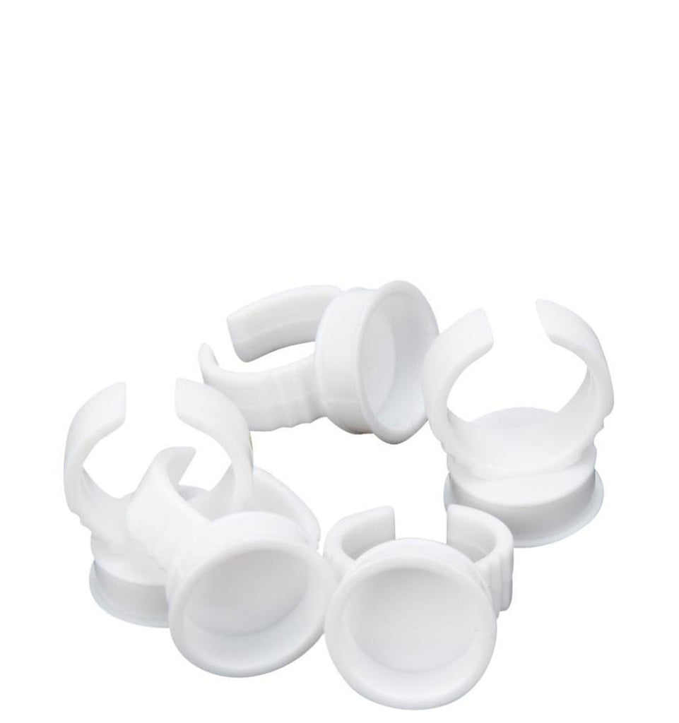 Plastic Adhesive Rings - 10 to 50 Pack - Lash Addicts