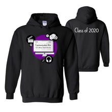 Load image into Gallery viewer, Communication Arts - Black Hoodie Class of 2020