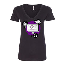 Load image into Gallery viewer, CCCA Ladies Fit V-Neck Tee