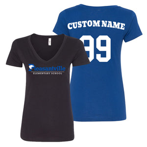 Pleasantville Ladies V-Neck Shirt Personalized