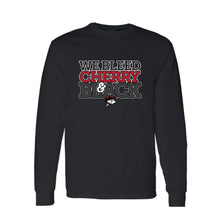 Load image into Gallery viewer, We Bleed Cherry & Black Long Sleeve