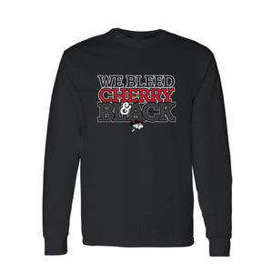 We Bleed Cherry & Black Long Sleeve