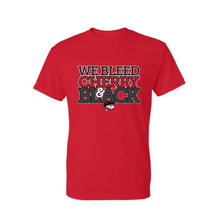 Load image into Gallery viewer, We Bleed Cherry & Black T-Shirt