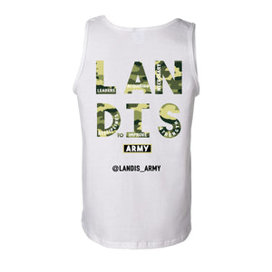 Landis Army Dog Tags Heavy Tank Top