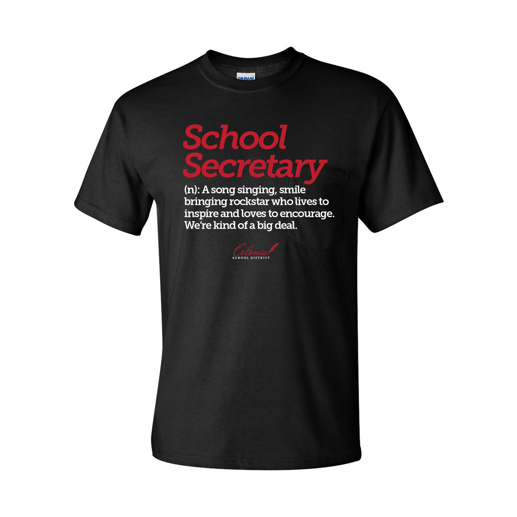 School Secretary Softstyle Tee