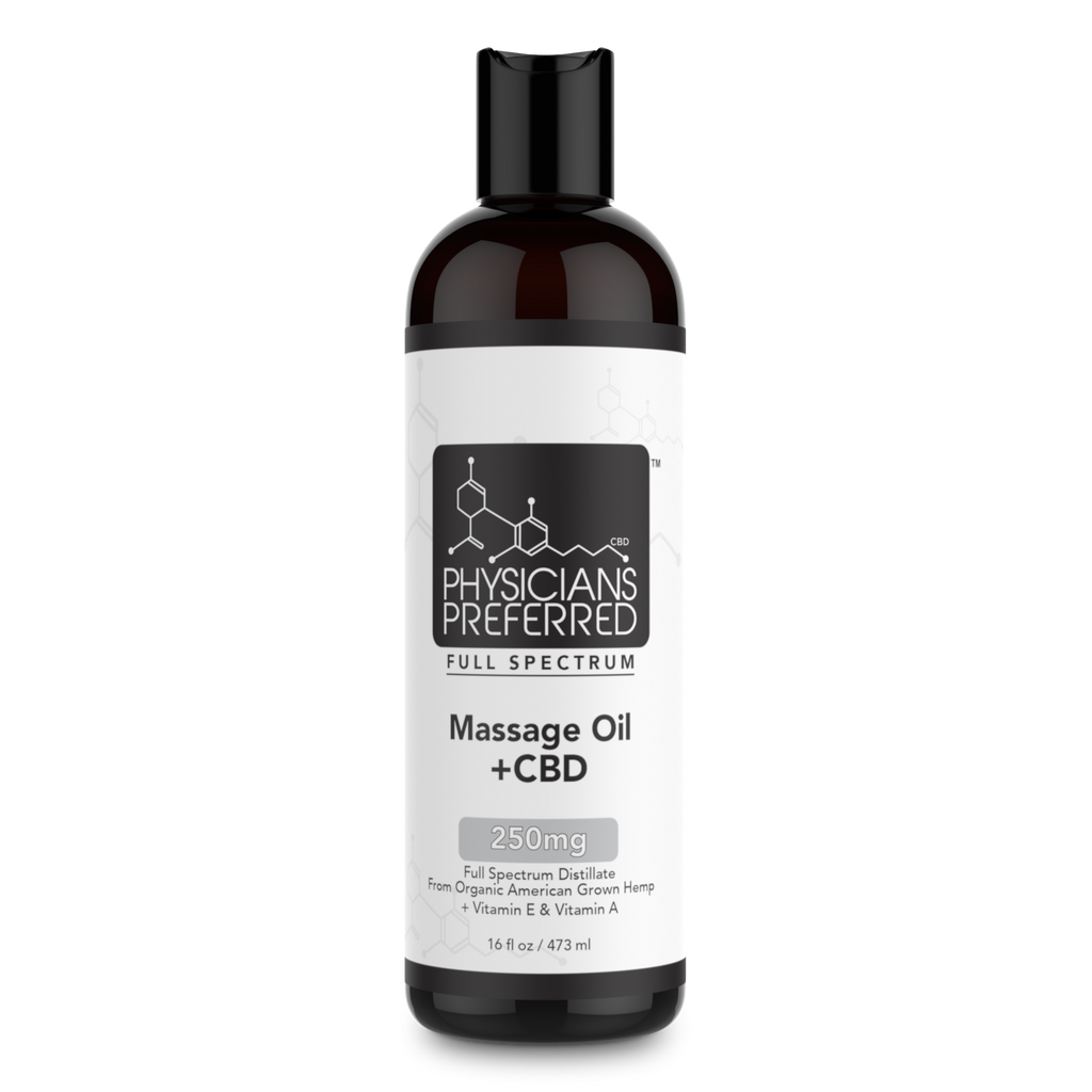 Massage Oil +CBD 250mg - Harmonypreferred.com