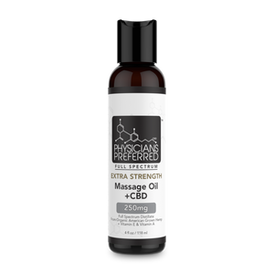 Extra Strength Massage Oil +CBD 250mg - Harmonypreferred.com