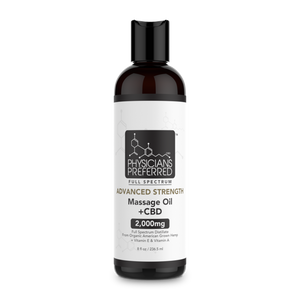 Advanced Strength Massage Oil +CBD 2000mg - Harmonypreferred.com
