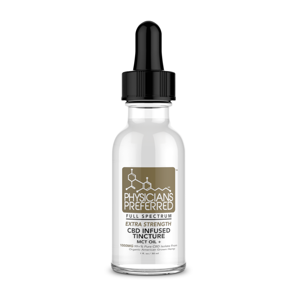 Isolate 1000mg Extra Strength CBD Tincture - THC Free - Harmonypreferred.com