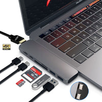 WarmSea Hub USB-C 7 em 1 com HDMI para MacBook