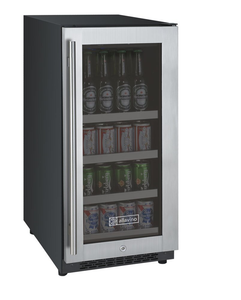 "Allavino Flexcount VSBC15-SSRN Beverage Center 15"" Wide Black Cabinet and Stainless Steel Door - Hinge on Right"