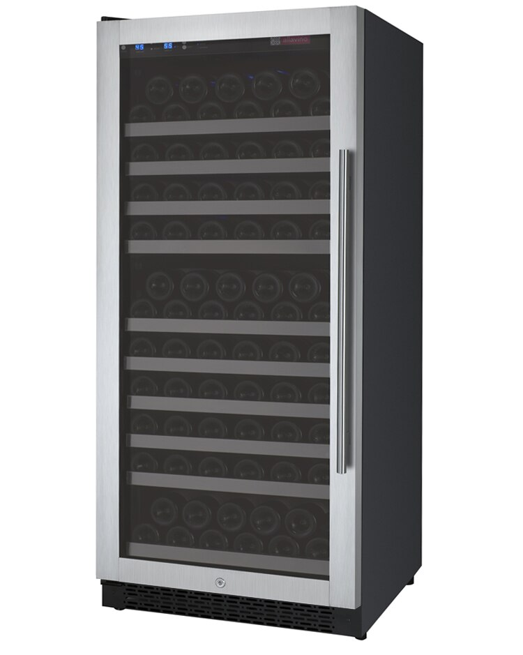 Allavino Flexcount VSWR128-1SSLN 128 Bottle Single Zone Wine Refrigerator with Left Hinge
