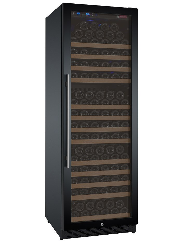 Allavino Flexcount VSWR177-1BWRN Wine Refrigerator Single Zone 177 Bottle with Black Door with Right Hinge